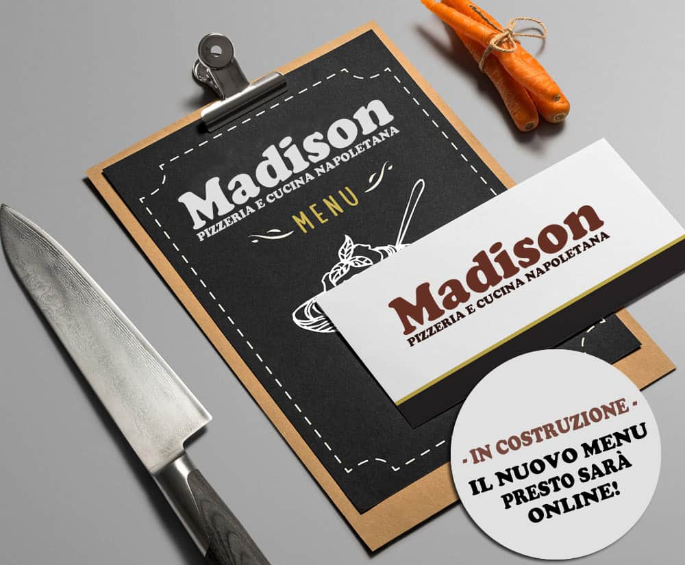 Menù Pizzeria Madison